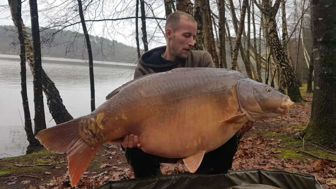 Bertrand with the new lake record 32,540kg.