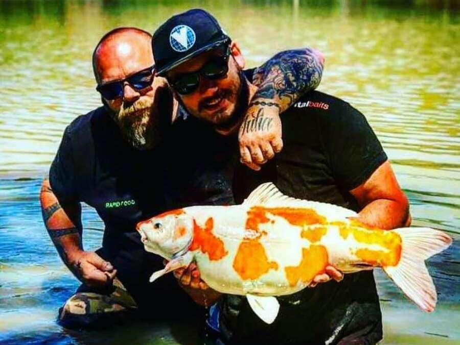 Koi carp fishing camalo france